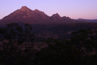 Stunning view north towards the Mt. Barney massif.